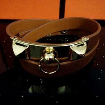 CREYUP0 Hermes Women Fashion Leather Bracelet Jewelry-9