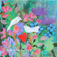 Chaucer's Love Birds Print