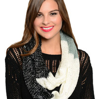 Sequin Infinity Scarf in Multi Color