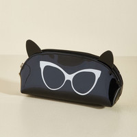 I Can See Ear-ly Now Pouch in Black | Mod Retro Vintage Glasses | ModCloth.com