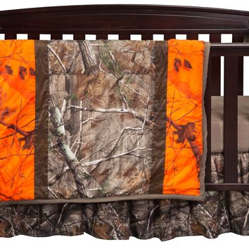 Realtree AP Blaze Camo Three Piece Crib Set