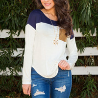 Pocketful Of Sunshine Top - Navy