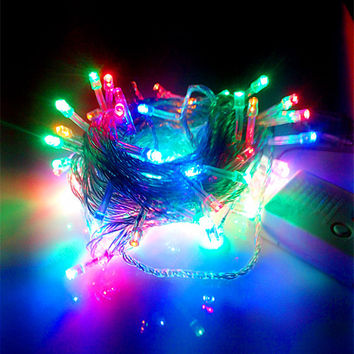 100 LEDs 10 meters LED string light Chrismas holiday party wedding decoration light 9 colors led connectable string light