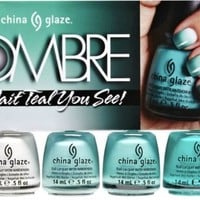 China Glaze 4 Piece Ombre Wait Teal You See!