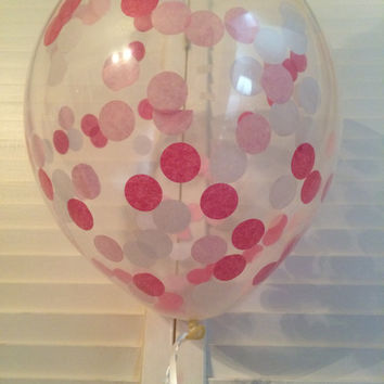Pink Confetti Balloons