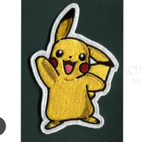 pokemon pikachu Iron On Patch