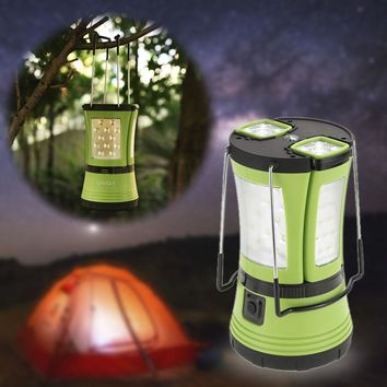Cool  10W 600LM LED Rechargeable Camping Lantern 2 Detachable Flashlight Torch Waterproof 360 Degree Portable Tent Light