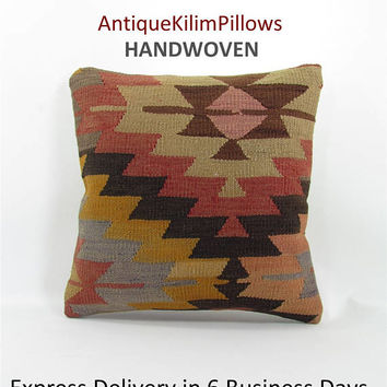 sofa pillow kilim pillow cover decorative pillow anatolian pillow throw cushion pillow kilim sofa cushion cover furniture accessory 000616