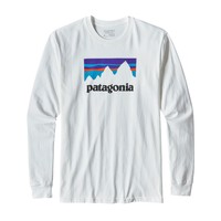 Patagonia M's Long-Sleeved Shop Sticker Cotton T-Shirt - White