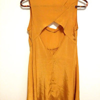Gold OpenBack Dress  4 by LosDiasDeRamen on Etsy