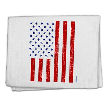 "Red and Blue Stamp Style American Flag - Distressed 11""x18"" Dish Fingertip Towel by TooLoud"