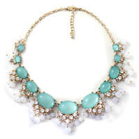 Light Green Stone Collar Necklace