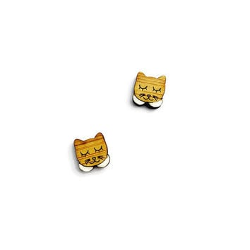 Cat Stud Earrings - Cat Studs, Kitty Earrings, Animal Earrings, Cat Jewelry, Cat Jewellery, Feline Earrings, Animal Jewelry, Pet Earrings