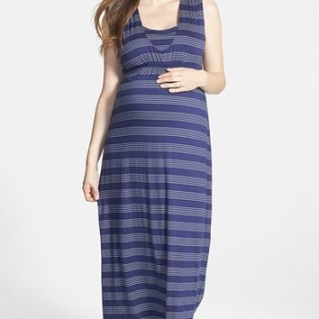 Women's Japanese Weekend Sleeveless Maxi Maternity/Nursing Dress,