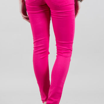 Colored Skinny Jean- Pink Pulse