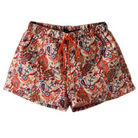 ROMWE | Self-tied Print Shorts, The Latest Street Fashion