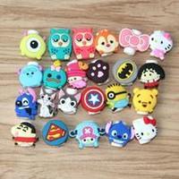 Christmas gift 30pcs/ a lot of cartoon USB headphone cable protector protection Samsung HTC charging line data line protection