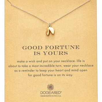 Women's Dogeared Fortune Cookie Pendant Necklace