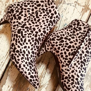 The Sassy Leopard Heeled Booties