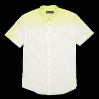 Mens Dip Dye Neon Short Sleeved Shirt by Blood Brother