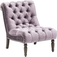 Caitlin Armless Chair, Brussels Mauve - Chairs - Furniture