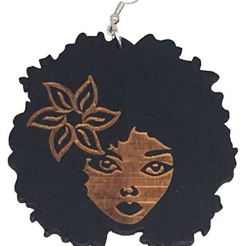 Kima earrings   Natural hair earrings   Afrocentric ear rings   jewelry   accessories