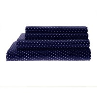 Hotel Collection Polka Dot Easy Care Microfiber Sheet Set - Navy - Sheets | Stein Mart