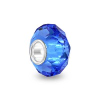 Bling Jewelry Sapphire Facet Charm
