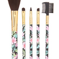 Island Life Cosmetic Brush Set