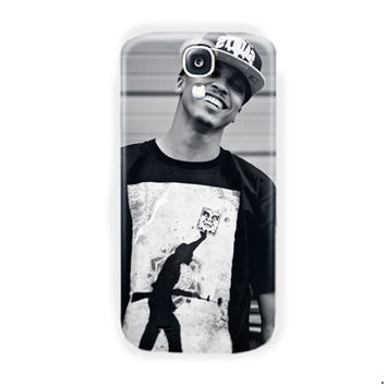 August Alsina Black White Poster For Samsung Galaxy S4 Case