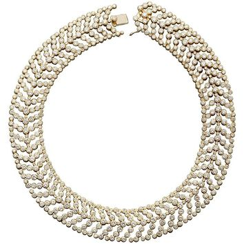 CARTIER Paris Vintage Diamond in Gold Choker Necklace 55 Carats