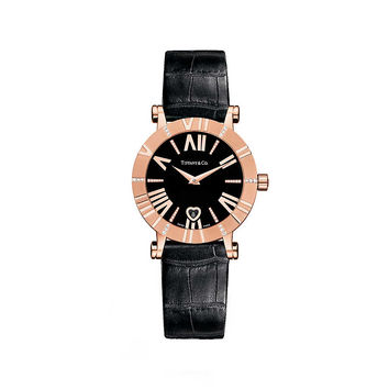 Tiffany & Co. - Atlas® watch in 18k rose gold with diamonds, quartz movement.