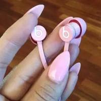 Beats URBEATS 2.0  Earphone Bass magic phone line noise reduction earplugs B/A Pink