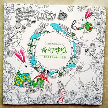25cm x 25cm 96 pages Fantasy Dream Coloring graffiti book Based on Alice in Wonderland Inky Hunt Children Adult Kill Time libro
