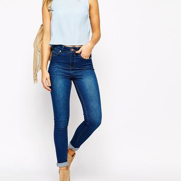 Oasis | Oasis Lillie High Waisted Ankle Grazer Jeans at ASOS