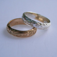 Vintage Flourish Thumb Ring / Gold Fill or .925 Sterling Silver / or Wear as a Finger Ring / Sizes 5 - 12
