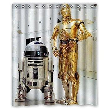 R2D2 Star Wars Robot waterproof shower curtains bathroom products polyester 160x180cm bathroom shower curtain