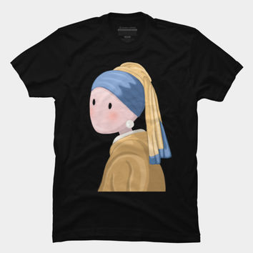 Girl With A Pearl Earring T Shirt By MomaArt Design By Humans