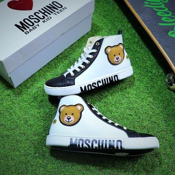 MOSCHINO VITELLO Zipper Casual Shoes - Best Online Sale