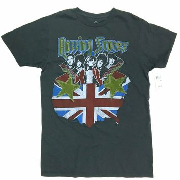 The Rolling Stones VINTAGE UNION JACK US TOUR T-Shirt NWT 100% Authentic