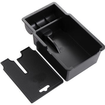 car styling Central armrest container holder tray storage box For Jeep Renegade 2015 2016 car organizer accessories