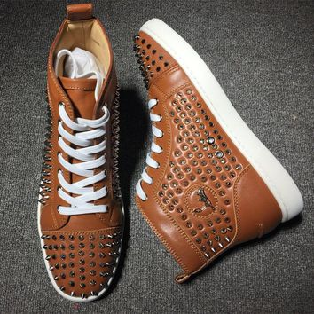Cl Christian Louboutin Louis Spikes Style #1827 Sneakers Fashion Shoes