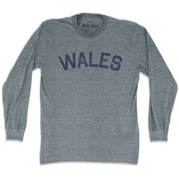 Wales City Vintage Long Sleeve T-shirt