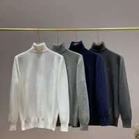 """Hazzys"" Men Solid Color Classic Turtle Neck All-match Fashion Personality Casual Long Sleeve Sweater Tops"