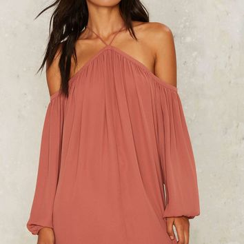 Nasty Gal Carlie Cold Shoulder Dress