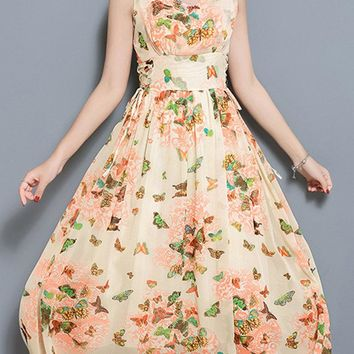 Butterfly Print Bandage Dresses