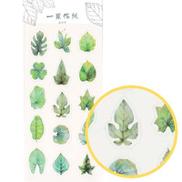 Realistic Leaf Shaped Nature Themed Stickers Floral Shaped Stickers | Cute Spring Summer Themed Scrapbook Decorating Supplies