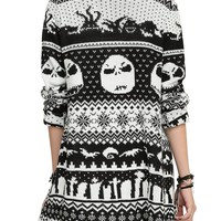 The Nightmare Before Christmas Intarsia Knit Cardigan 2XL