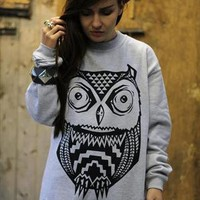 Aztec Owl Sweatshirt from ART DISCO
