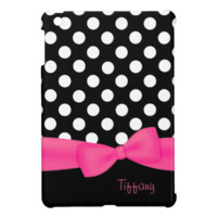 Black & White Polka Dot iPad Mini Case